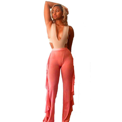 2017 Newest Women Swimwear Swimsuit Bikini Cover Up Sheer Draped Beach Pants