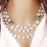 Women Multi-layer Metal Clothing Accessories Bib Chain Necklace Jewelry - Fantastic Fashion