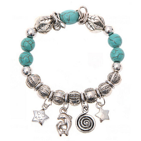 Turquoise Beads Bracelet Handmade Accessories Fashion Jewelry - Fantastic Fashion