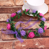 Flower Crown Headband Floral Hairband Festival Wedding Accessories Headdress - Fantastic Fashion