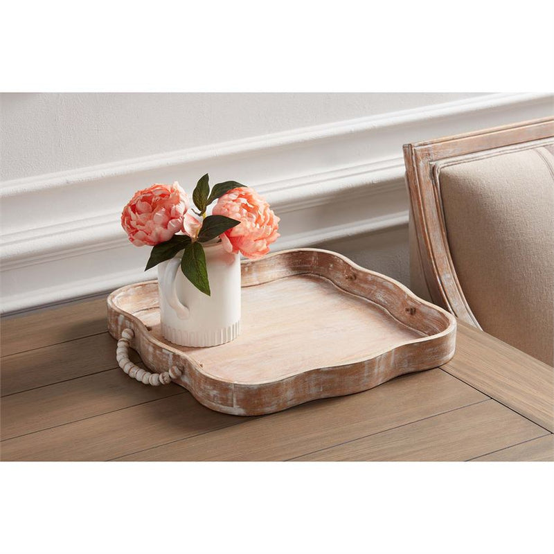 Scalloped Beaded Tray