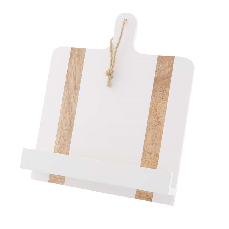White Cookbook Holder