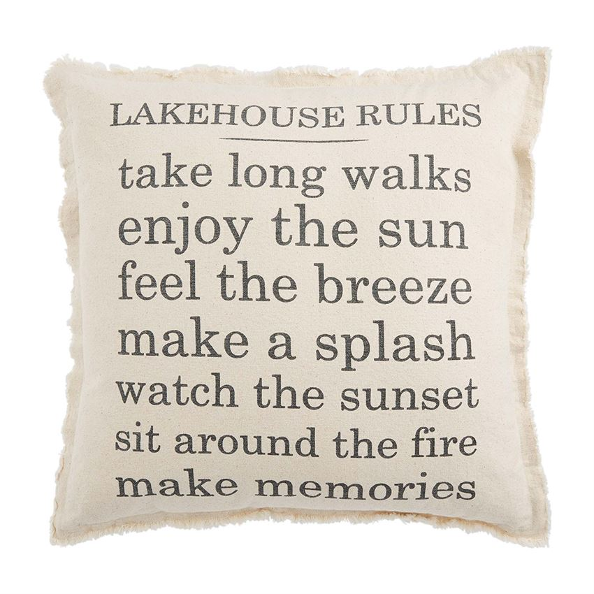 Lake House Rules Pillow