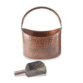 Copper Beverage Tub with Scoop
