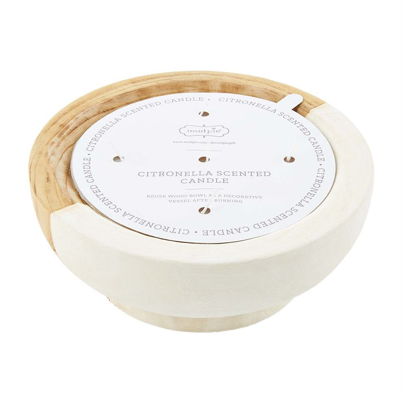 Citronella Wood Bowl Candle
