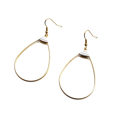 Wire Wrapped Teardrop Earring