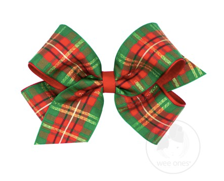 Medium Christmas Plaid Bow