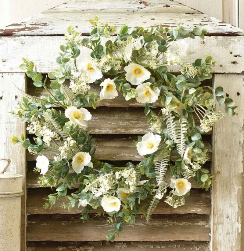 Alabaster Poppy Wreath