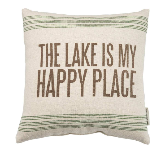 Lake is My Happy Place Pillow