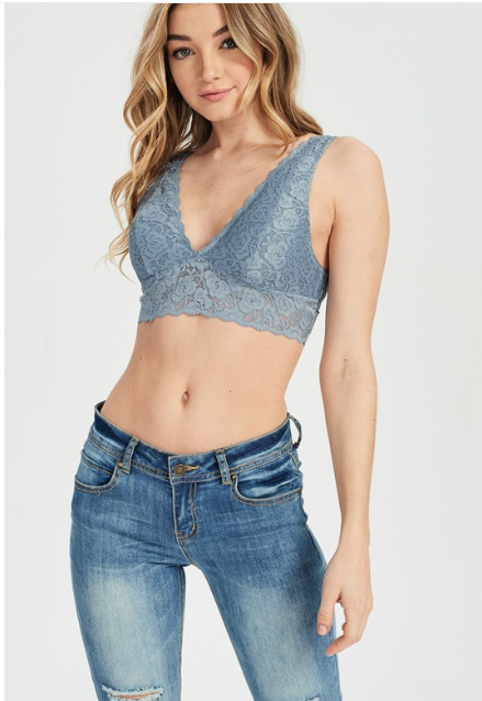 Scallop Lace Padded Bralette