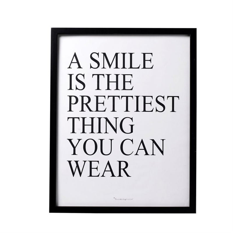 A Smile Is Wood Framed Wall Decor
