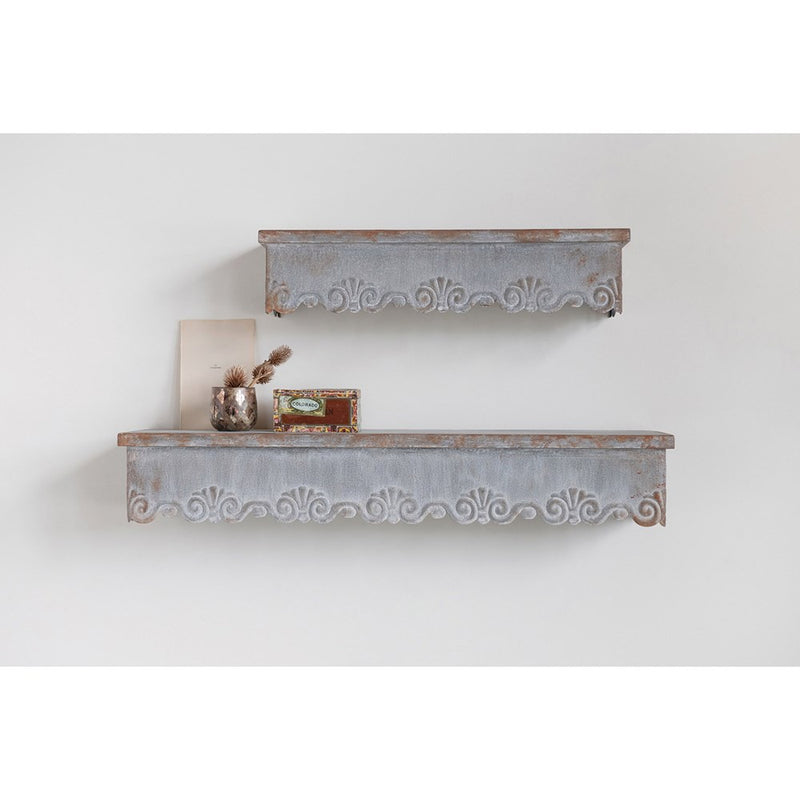 Metal Wall Shelf Set
