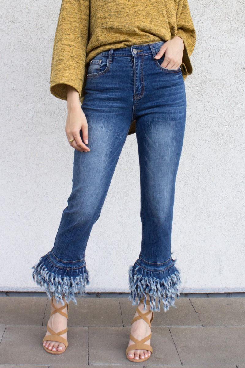 Frayed Bottom Jean