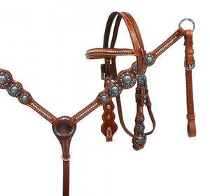 PONY Blue Rhinestone Headstall Set
