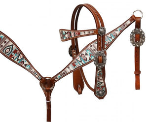 Multi Colored Navajo Diamond Headstall Set