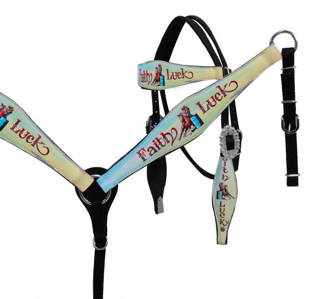 Faith & Luck Nylon Headstall Set