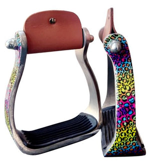 Rainbow Cheetah Stirrups