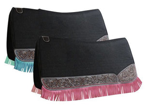 Tooled Fringe Saddle Pad