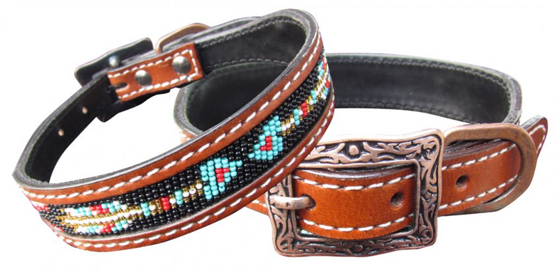Beaded Arrow Dog Collar