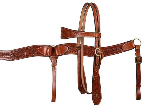 Medium Oil Acorn Headstall Set