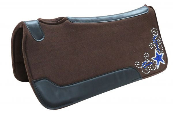 Rhinestone Star Saddle Pad
