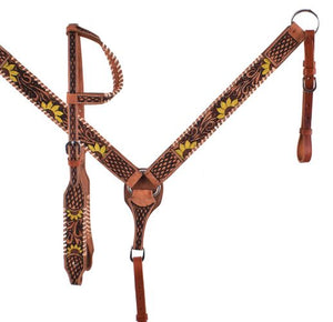 One Ear Sunflower Headstall Set