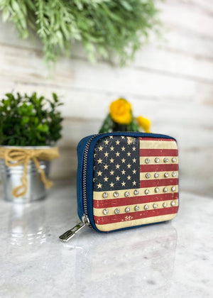 American Flag Pill & Accessory Travel Case