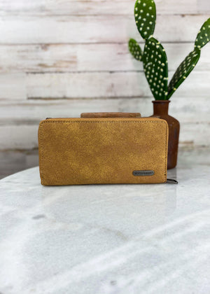 Brown Embroidered Wallet