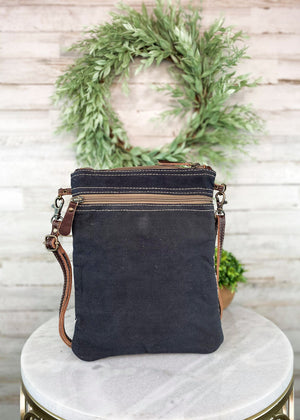 Brown & Off-White Messenger Crossbody