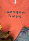 Coral I'm Not Going Short Sleeve Tee