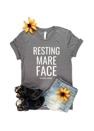 Heather Grey Resting Mare Face Short Sleeve Graphic Tee