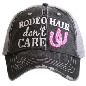 Rodeo Hair  Don't Care Trucker Cap (3 colors)