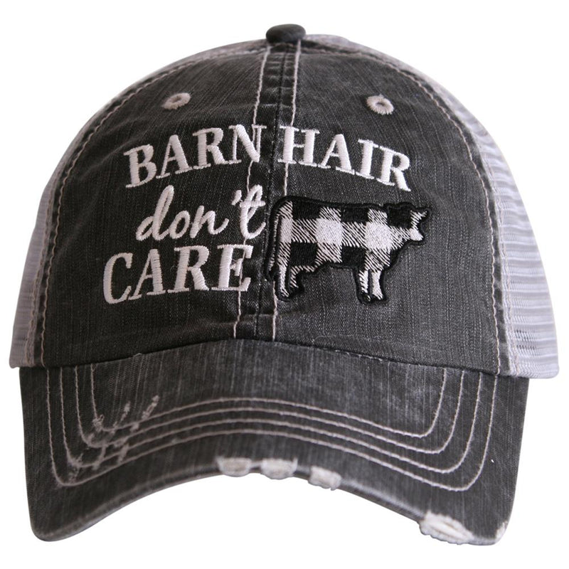 Barn Hair White Trucker Cap