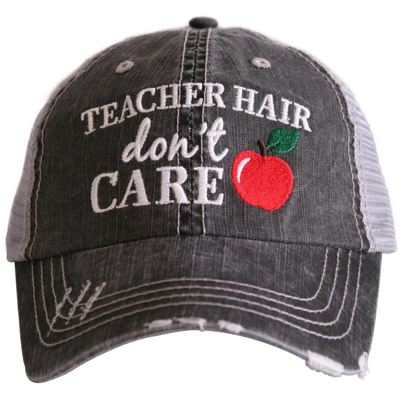 Teacher Hair Don't Care Trucker Cap