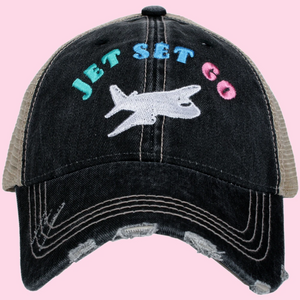 Jet Set Go Trucker Cap (3 colors)