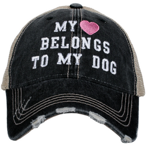 My Heart Belongs to my Dog Trucker Cap (4 colors)