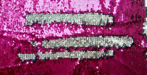 Pink & Silver Sequin Headstall Set