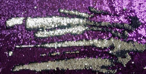 Purple & Silver Sequin Headstall Set