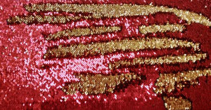 Red & Gold Sequin Headstall Set