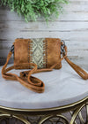 Tan Aztec CrossbodyClutch Handbag