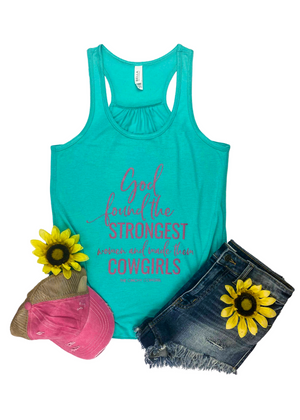 Teal God Found the Strongest Women Tank Top