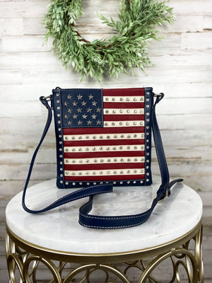concealed carry american flag crossbody handbag