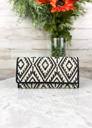 Black & Ivory Aztec Wallet