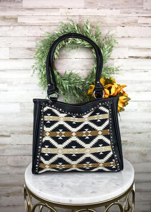 Black & Tan Aztec Handbag