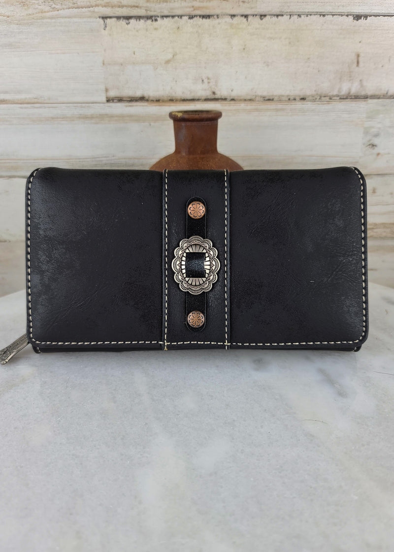 Black Concho Wallet