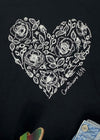 Corinthians 16:14 Rose Heart Black Short Sleeve Graphic Tee