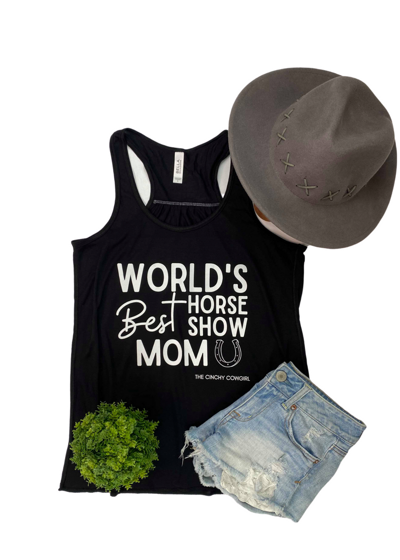 Black World's Best Horse Show Mom Tank