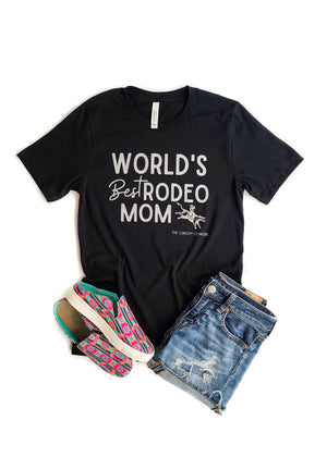 Black World's Best Rodeo Mom Short Sleeve Tee