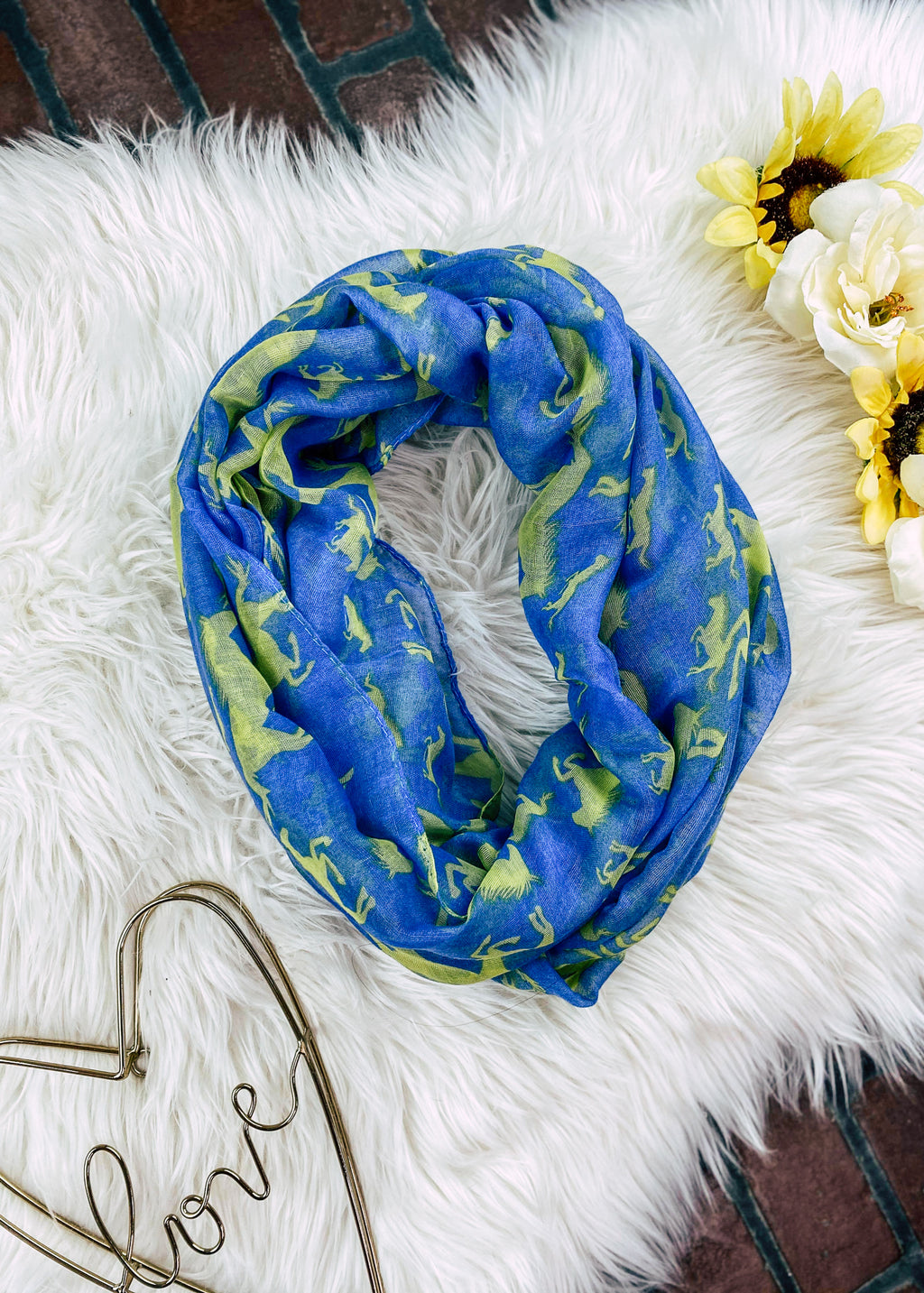 Blue Infinity Horse Scarf