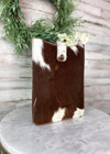 Brown & White Cowhide Tablet Sleeve
